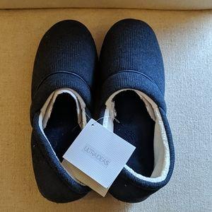 Ultraideas Navy Blue Knit Memory Foam Slippers